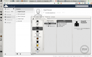 owncloud contacts and Kontakt KDE