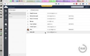 Контакти в ownCloud 5