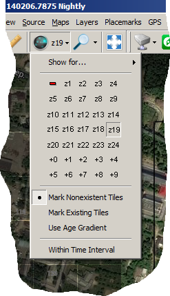 Cached tiles map