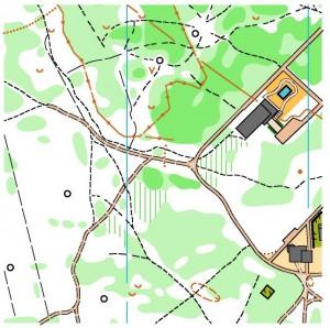 Фрагмент карти Вулиця Лісова