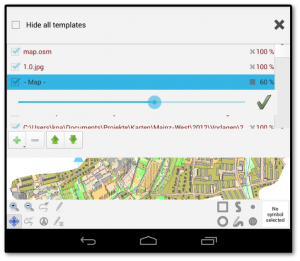 Вікно налаштувань підложок у Android