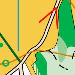 Вузька асфальтована доріжка на карті