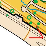 Бордюр між проїздною частиною та тротуаром на карті
