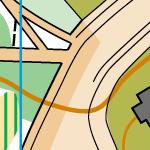 Зміна кольору заповнення на середині дороги