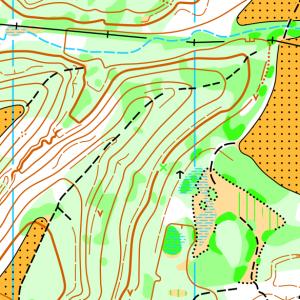 Фрагмент карти Гарячківський ліс