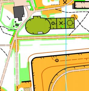 Фрагмент карти Крижопільський парк