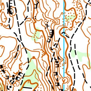 Фрагмент карти Вовчинецькі гори